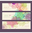 Set of ornamental artistic watercolor banners vector image vector image