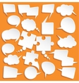 Shiny white paper bubbles for speech vector image vector image