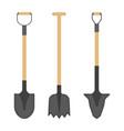 shovel icons isolated on white vector image
