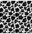 silhouette brush flowers seamless pattern vector image