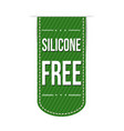 silicone free banner design vector image