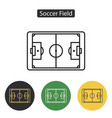 soccer field icon vector image vector image
