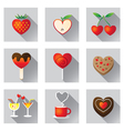 Sweet Fruit and Bakery Love Objects and Icons vector image vector image