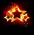 three fire stars vector image vector image