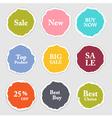 Torn paper round sticker label banner set vector image vector image