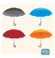 Umbrellas set vector image vector image