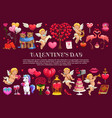 valentines day gifts hearts and cupids vector image vector image