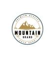 vintage retro badge mountain logo vector image