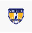 volleyball club badge logo-4 vector image vector image