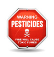 warning pesticide danger vector image vector image