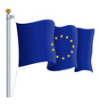 waving european union flag eu flag isolated on a vector image
