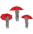 litlle girl with umbrella - vector image