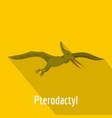 pterodactyl icon flat style vector image