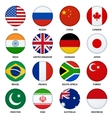 Set of round flags buttons - 1 vector image
