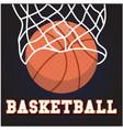 sport basketball hoop background image vector image