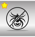 ban mites black icon button logo symbol vector image
