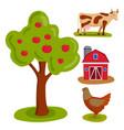 farm nature food harvesting vector image
