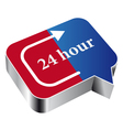 24 hours vector image vector image