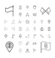 37 marker icons vector image vector image