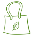 A recycled bag vector image vector image
