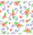abstract flowers seamless pattern vintage colors vector image vector image