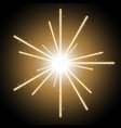 abstract laser beams with sparks golden color vector image vector image