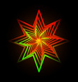 Abstract triangle neon star