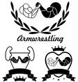 Arm-wrestling vector image vector image