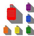 baggage sign set of red orange vector image vector image