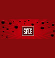 black friday abstract red sale banner design vector image vector image