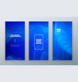 blue vertical stories sale banner background for vector image