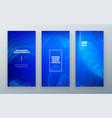 blue vertical stories sale banner background