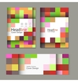 Brochure template design with squares and vector image vector image