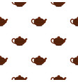 brown chinese teapot pattern seamless vector image vector image