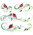 Bullfinch and Christmas ornaments vector image vector image