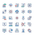 bundle modern technology icons vector image vector image