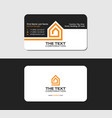 business card template real property vector image vector image