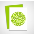 Card with lettering element vector image