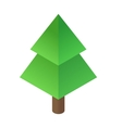 Christmas tree isometric 3d icon vector image vector image