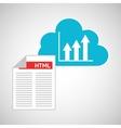 cloud code developing chart diagram vector image vector image