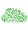cloud mosaic of leaf branch icons vector image vector image