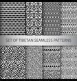 collection pixel seamless patterns vector image