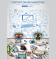 content online marketing brochure template with vector image vector image