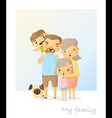 Cute family portrait Happy family background vector image