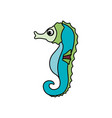 cute sea horse vector image
