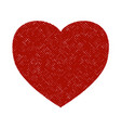 distress heart shape vector image vector image