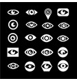 eye icon set design vector image