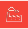 Factory line icon vector image vector image