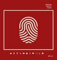 fingerprint scanned finger icon graphic elements vector image