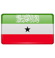 Flags Somaliland in the form of a magnet on vector image vector image